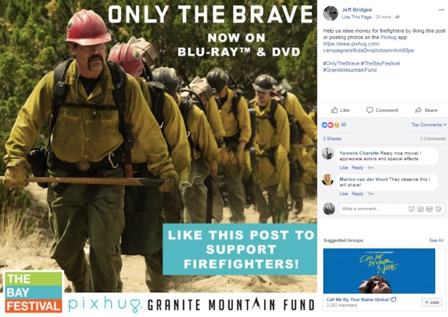 Sony Teams With Firefighter Charity on 'Only the Brave'