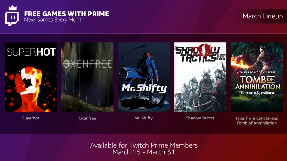 Amazon Offering Free Video Games to Prime Members
