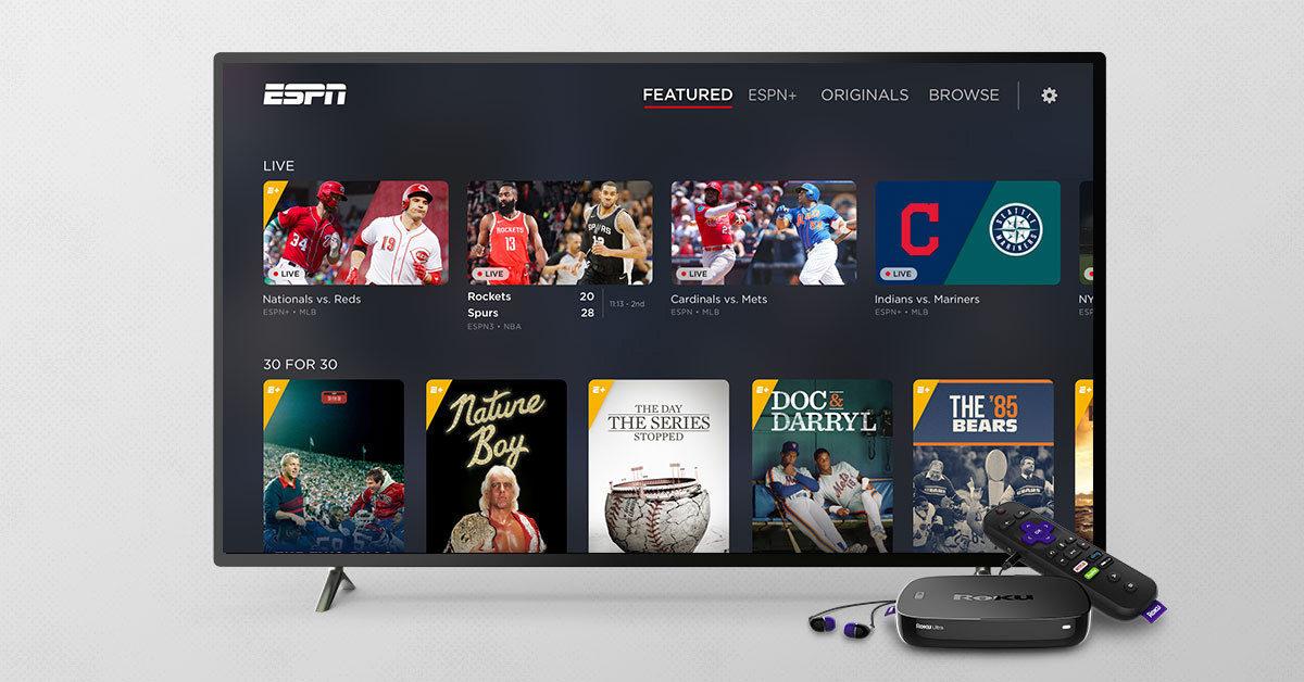 ESPN+ Streaming Service Available on Roku Platform