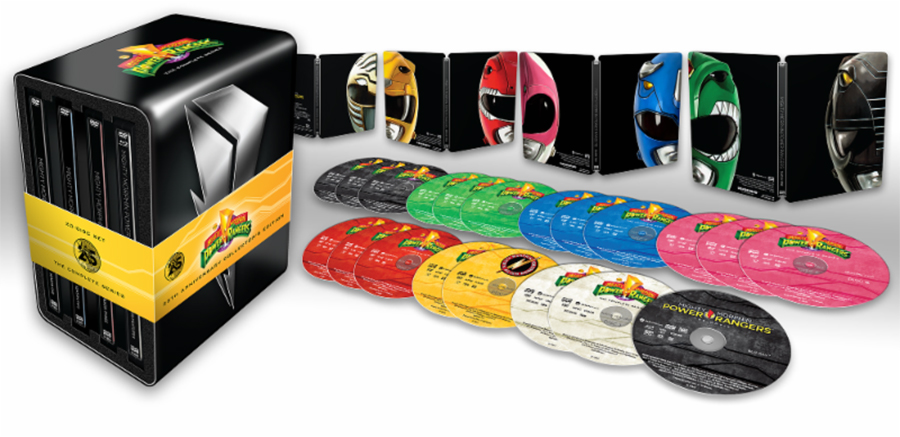 Shout! Factory Releasing 25th Anniversary 'Power Rangers' Steelbook Set