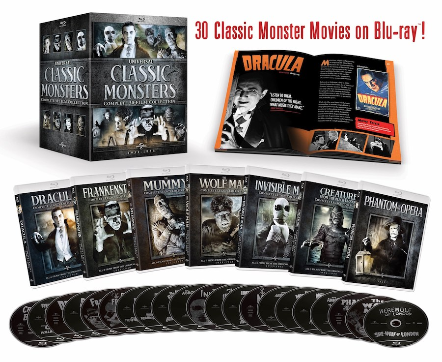 'Universal Classic Monsters: Complete 30-Film Collection' Coming on Blu-ray Aug. 28