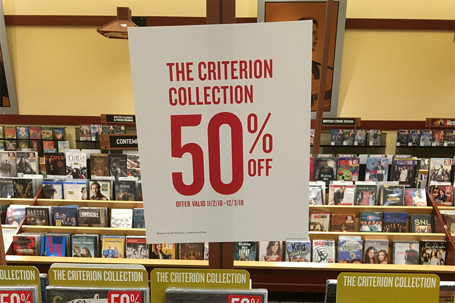 Merchandising: Criterion Titles 50% Off at Barnes & Noble