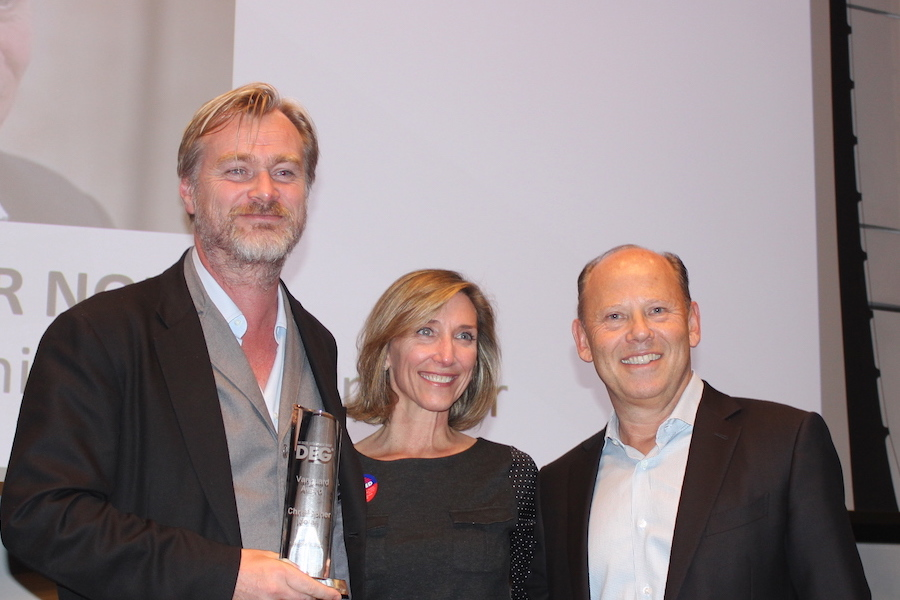 Director Nolan Presented with DEG 'Vanguard' Award at Nov. 6 4K UHD Summit