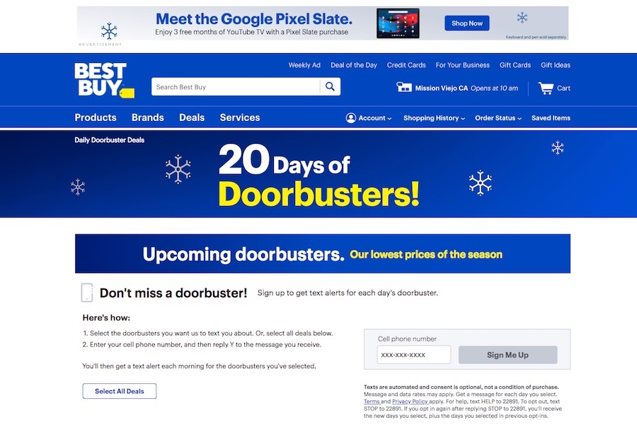 Best Buy Extends Holiday Deals With '20 Days of Doorbusters'