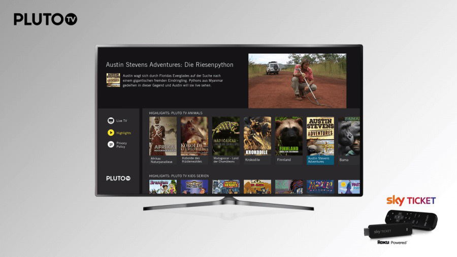 Pluto TV Bows Service in Germany, Austria