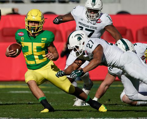 Oregon Beats Michigan State in Low-Scoring Redbox Bowl