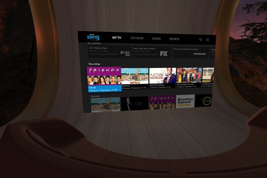 Sling TV Launches on Oculus Go