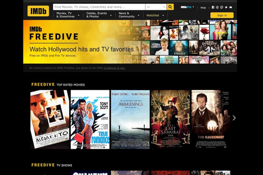IMDb Launches AVOD Entertainment Streaming Channel