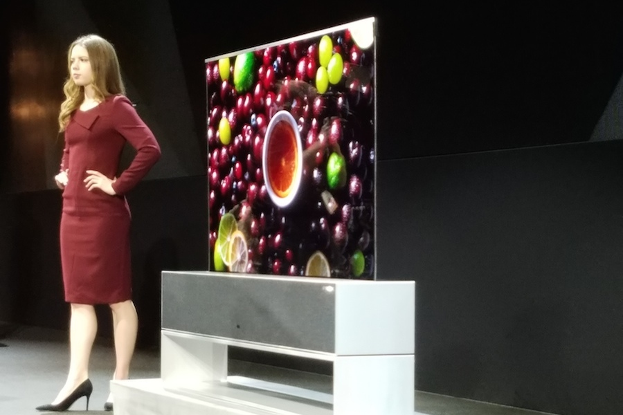LG Rolls Out Roll Up TV