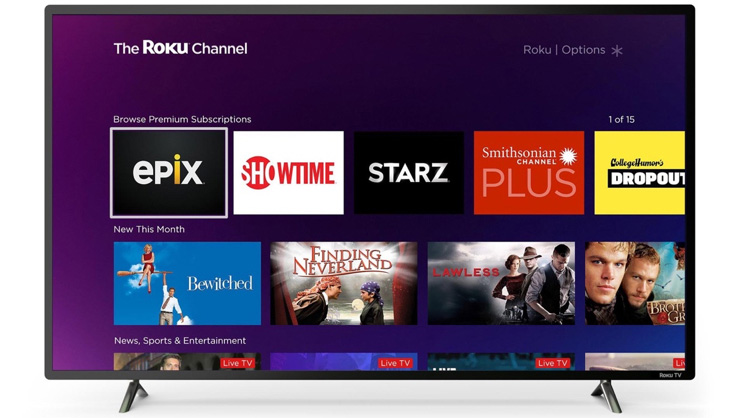 The Roku Channel Offering Premium SVOD Services