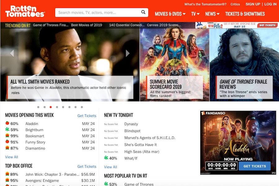 Rotten Tomatoes Revises Audience Movie Ratings