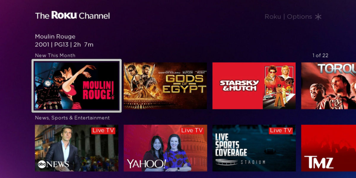 Cinedigm Launches SVOD Services on The Roku Channel