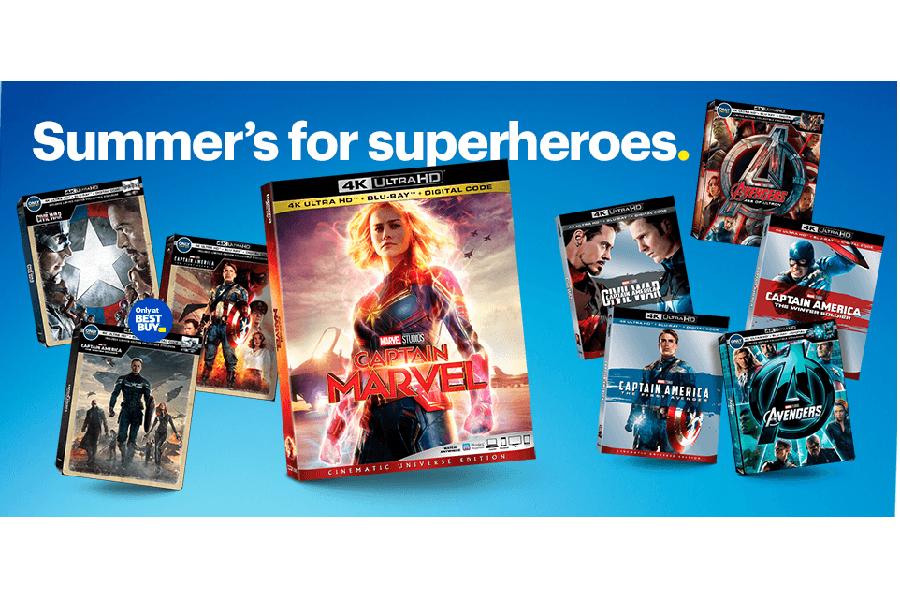 Merchandising: Best Buy Touts Superheroes and Steelbooks for July 4 Week