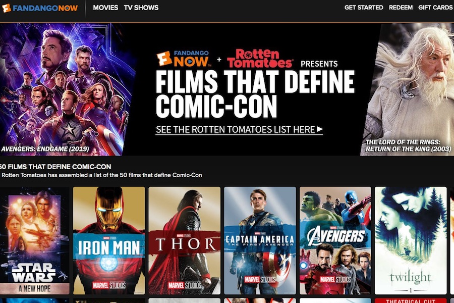 FandangoNow Creates Playlists for San Diego Comic-Con