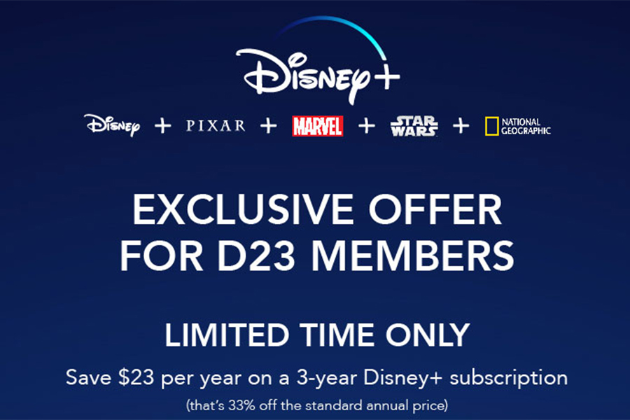 D23 Members Offered Free Year of Disney+