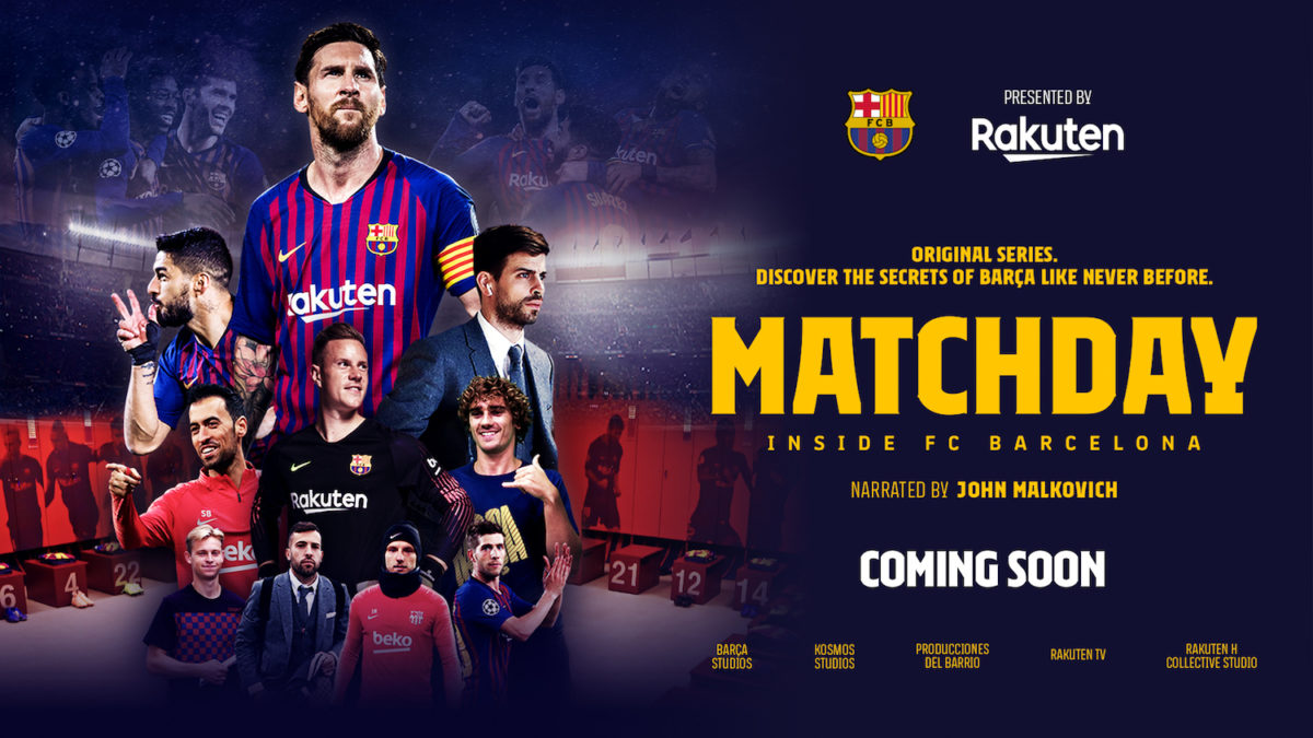 Rakuten TV Launches FC Barcelona Soccer Series
