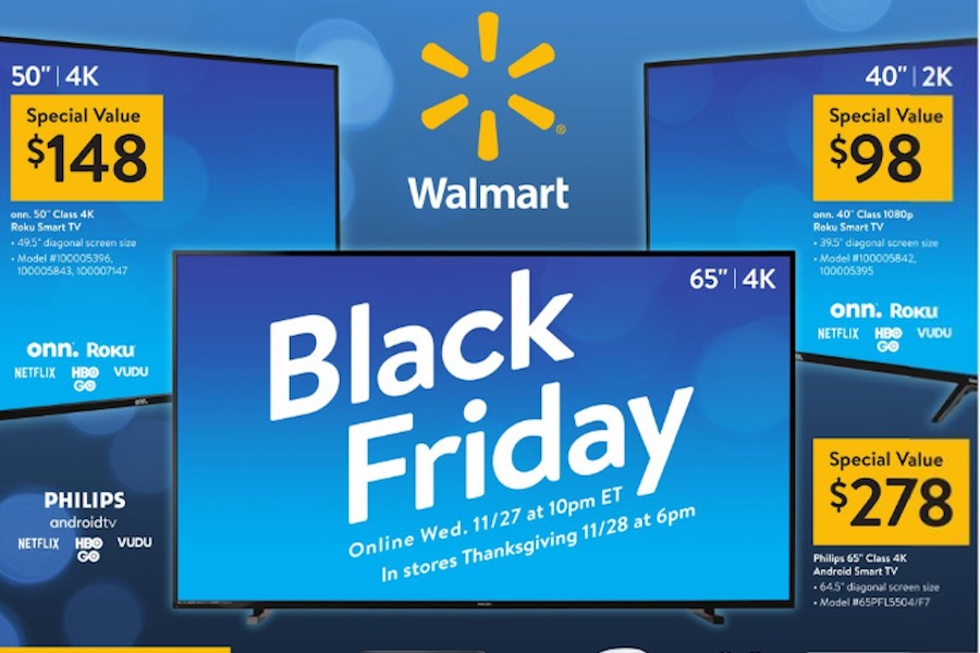 Walmart Black Friday Deals Include DVDs Under $2, 4K Discs Under $8 and 4K TVs Under $200