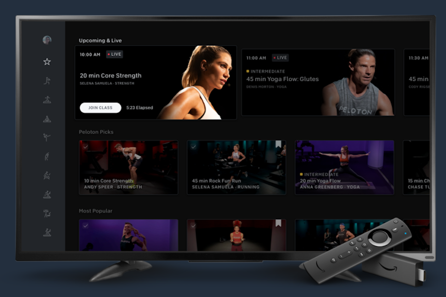 Peleton In-Door Cycling Fitness App Coming to Amazon Fire TV