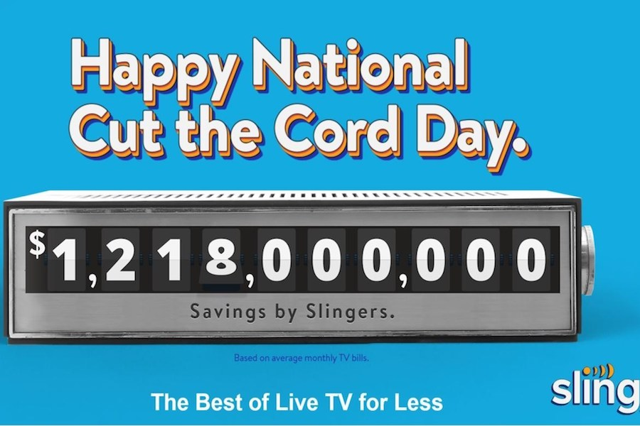 Sling TV Markets Service With 'National Cut the Cord Day,' Discounts