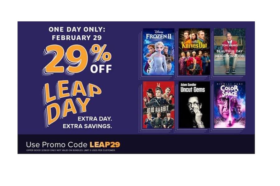 FandangoNow Offers Leap Day Sales