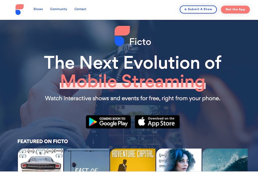Ficto, Free Mobile Streaming Alternative to Quibi, Launches App