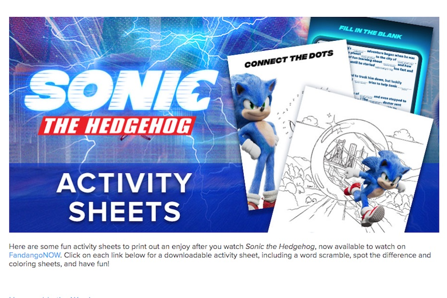 FandangoNow Bows Clip, Activity Sheets for 'Sonic the Hedgehog' Debut; 'Invisible Man' Again Top Title