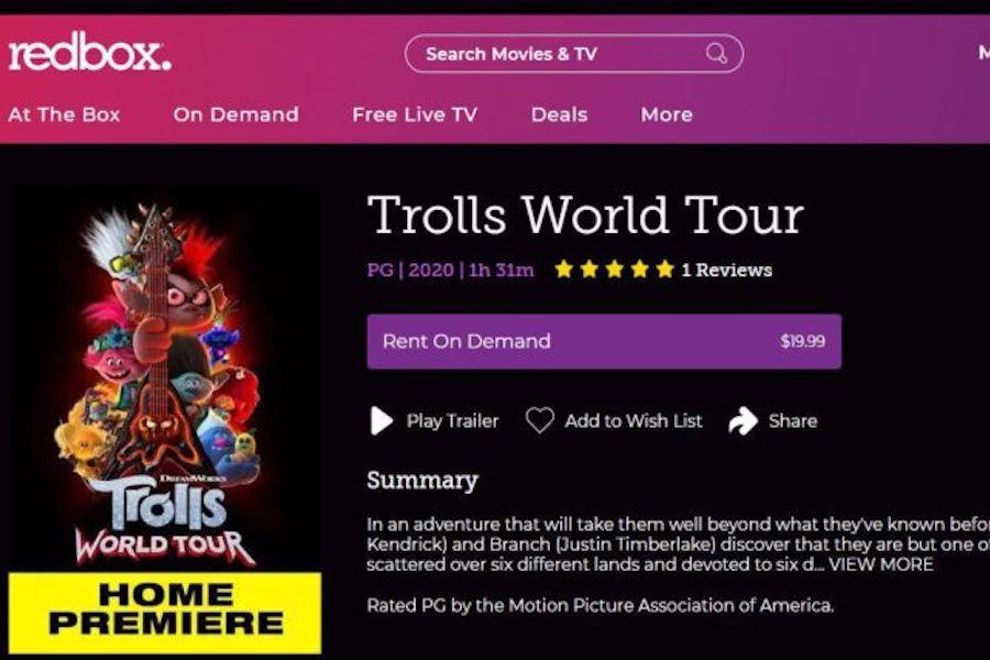 'Trolls World Tour' PVOD Release No. 1 on iTunes, Amazon Video