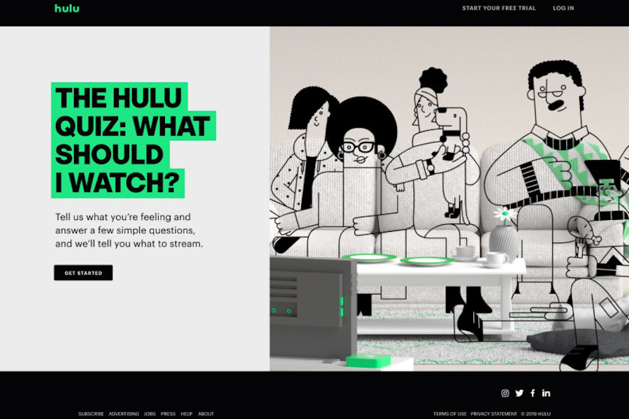 Hulu Launches Quiz Feature to Help Consumers Choose Content to Watch
