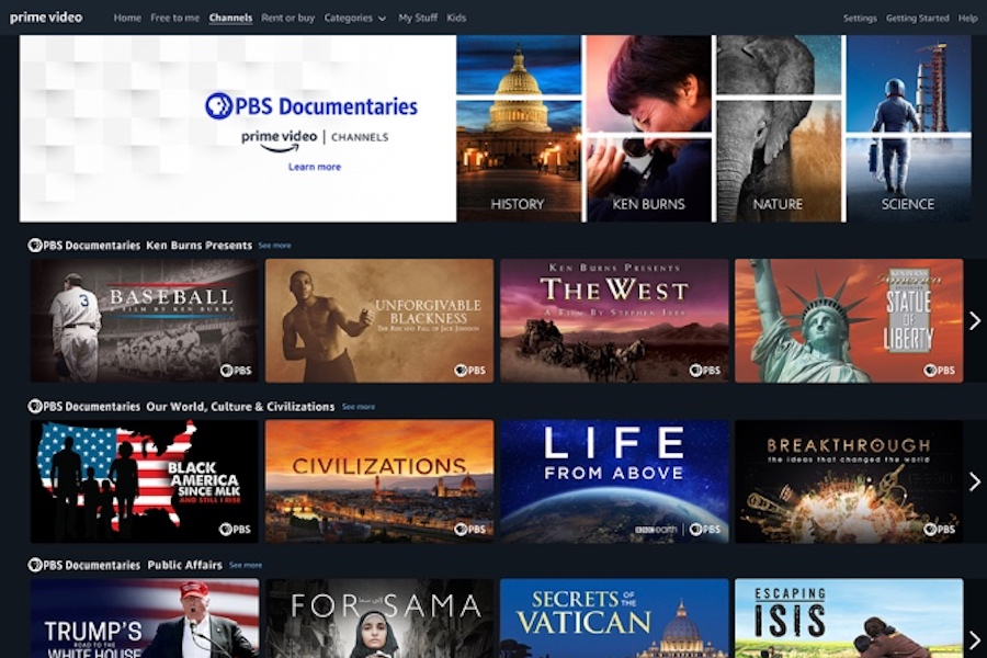 PBS Launches PBS Documentaries Prime Video Channel
