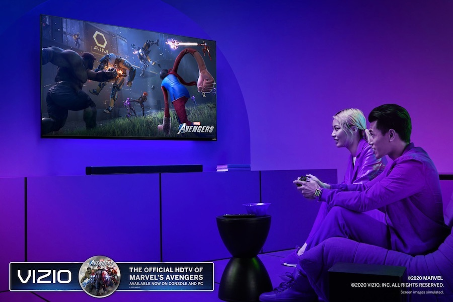 Vizio Official HDTV and Sound Bar Partner for 'Marvel's Avengers' Game