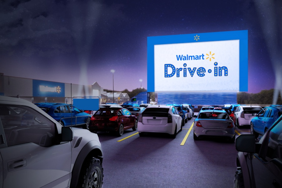 Walmart Formally Bows Free Drive-In Parking Lot Movies