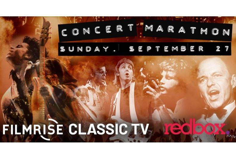 FilmRise, Redbox Free Live TV Streaming Music Concert Marathon