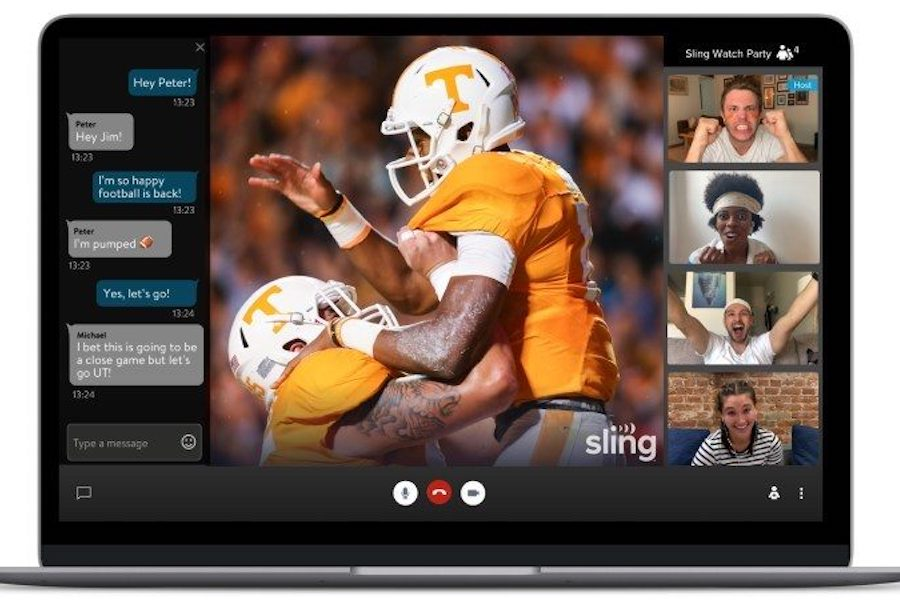 Sling TV Bows 'Watch Party' Featuring Voice, Text