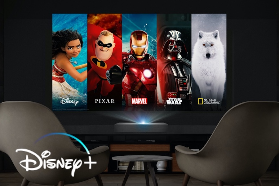 Disney+ Available on LG CineBeam Projectors