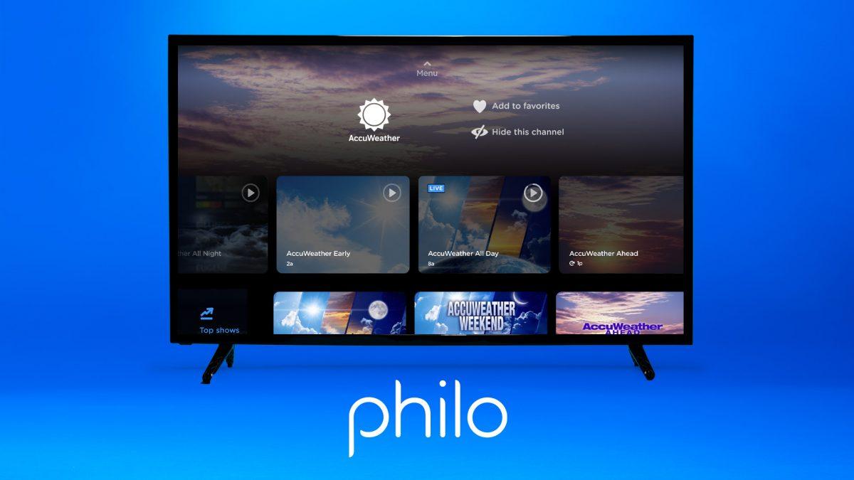 Philo Launches AccuWeather Service via Online TV Platform