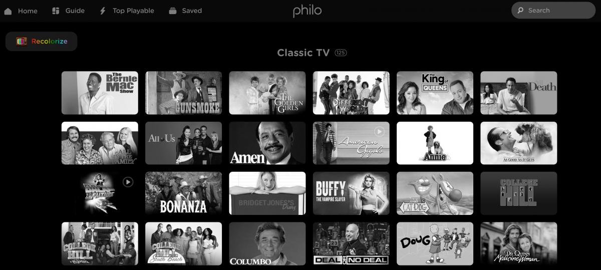 Philo Launches Black & White Television