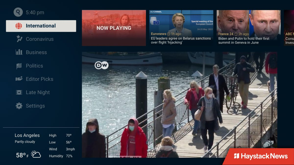 Haystack News Streaming Platform Adds German Broadcaster Deutsche Welle