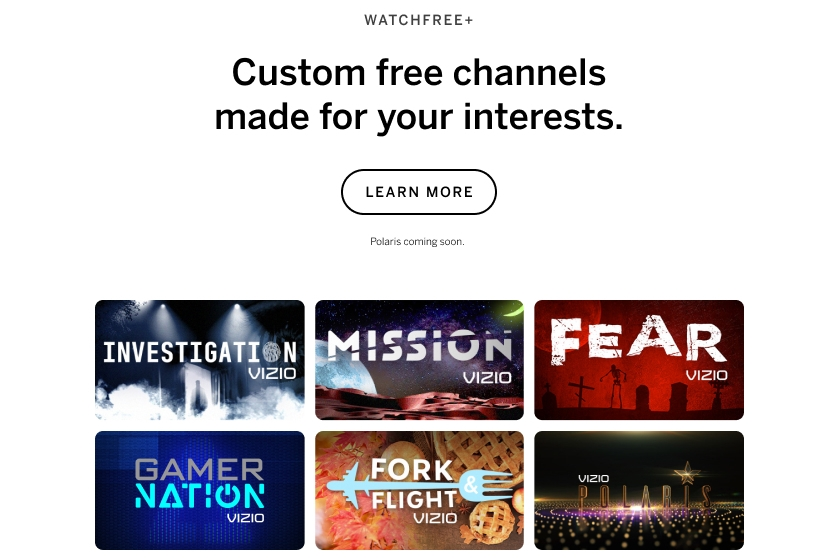Vizio Expands Curated Content Channels