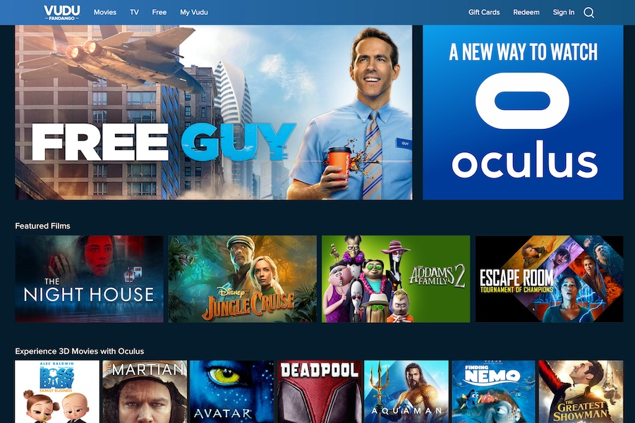 Vudu Available on Oculus VR Devices